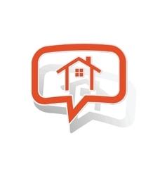 Cottage message sticker orange vector