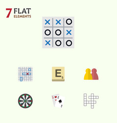 Flat icon play set of ace xo people and other vector