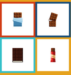 Flat icon sweet set of sweet bitter dessert and vector