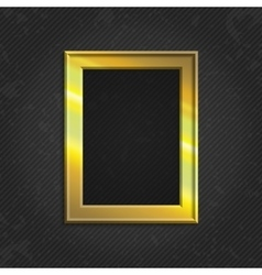 Gold modern picture frame vector