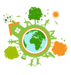 Green World planet vector image