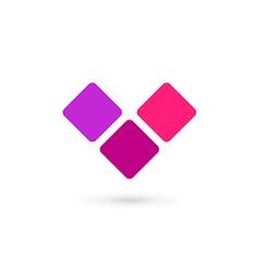 Letter v heart logo icon design template elements vector