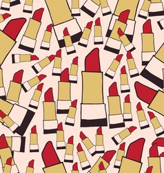 Lipstick seamless pattern color vector image vector image