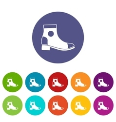 Men boot set icons vector image