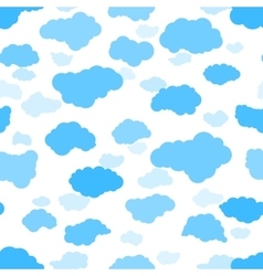 New clouds seamless pattern vector