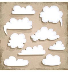 Paper Speech Bubble Cloud vector image vector image