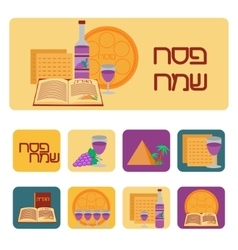 Passover icon set vector