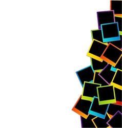 Polaroid background vector image vector image