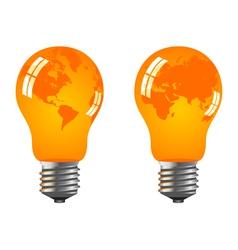 power saving bulbs vector image vector image