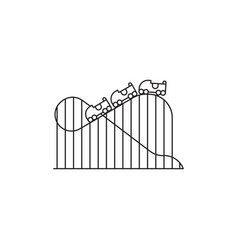 Roller coaster icon linear design isolated vector