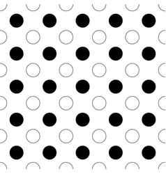 Seamless abstract monochrome polka dot pattern - vector