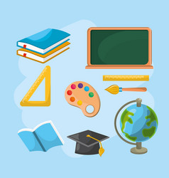 set education tools to creative study vector image vector image