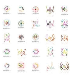 Set of linear logotypes geometric abstract vector image vector image