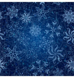 Snowflakes seamless Christmas background vector image vector image