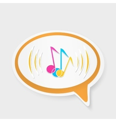 speech bubble with notes vector image vector image