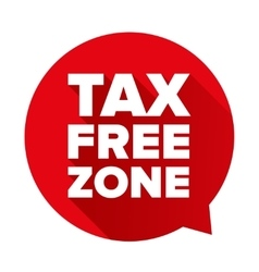 Tax free red speech bubble vector