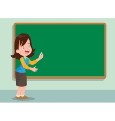 teacher and board vector image