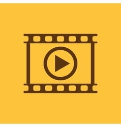 The video icon Play and player movie cinema vector image vector image
