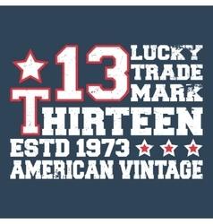 Thirteen vintage stamp vector image vector image