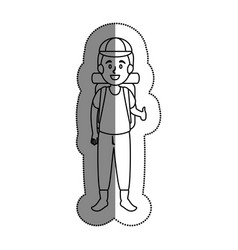 tourist man traveler avatar vector image