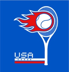 USA team tennis vector image
