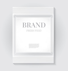 white blank food snack bag with copy space vector image