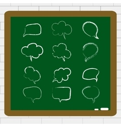 with hand draw speech bubble set vector image vector image