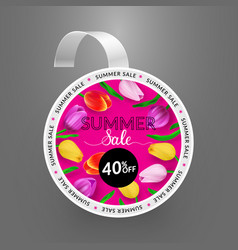 Wobbler summer sale vector
