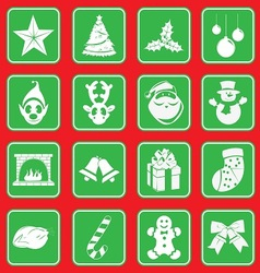 christmass icon set vector image