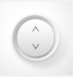 White plastic volume button vector