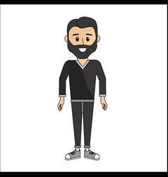 man with casual cloth icon vector image