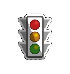 semaphore traffic light post vector image