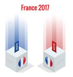 Presidential election in france 2017 ballot box vector