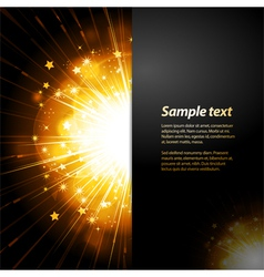 Firework starburst panel background with sample vector