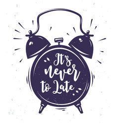 Clock with lettering vector