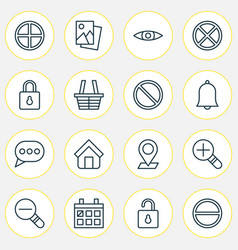 Network icons set collection of obstacle vector