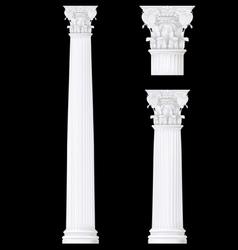 corithian column vector image