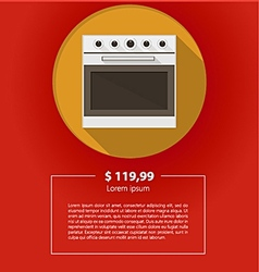 Ad layout for kitchen appliances white oven vector