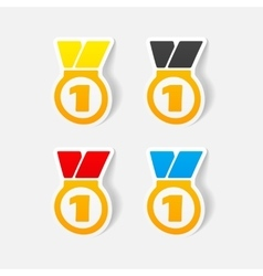 Realistic design element medal vector