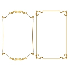Two gold frame vector
