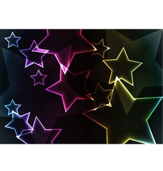 Star abstract background with lights and glows vector