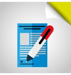 Signing contract design vector