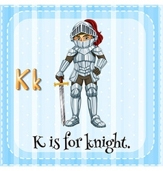 A letter k for knight vector