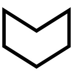 Arrowhead down stroke icon vector