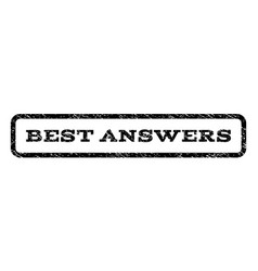 Best answers watermark stamp vector