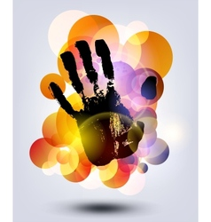 Black print of a hand vector image vector image