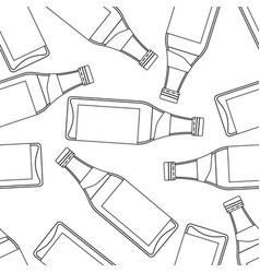 Bottle seamless pattern vector