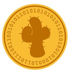 Cacti digital coin vector