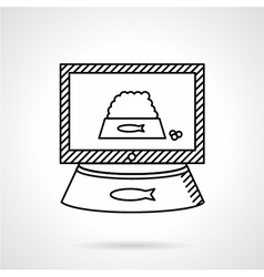 Cat food icon line style vector