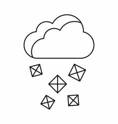 Cloud and hail icon outline style vector